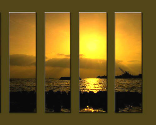 Modern Oil Paintings on canvas sunglow painting -set10029