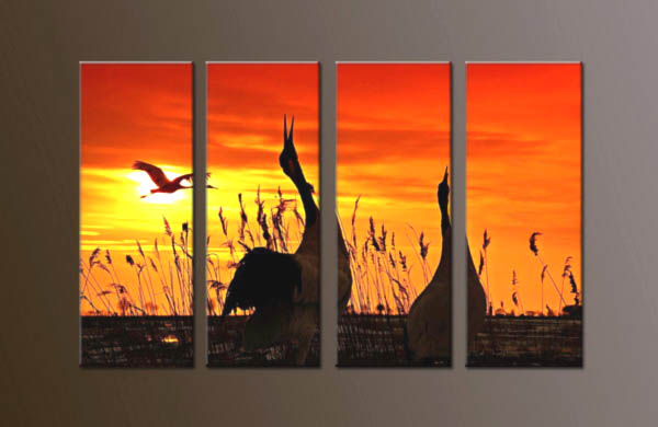 Modern Oil Paintings on canvas sunrise painting -set10049