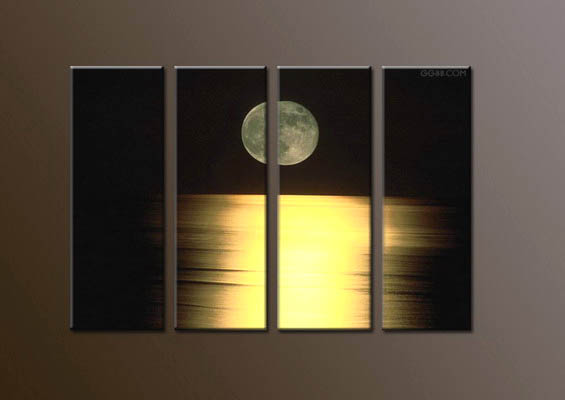 Modern Oil Paintings on canvas moon painting -set10053