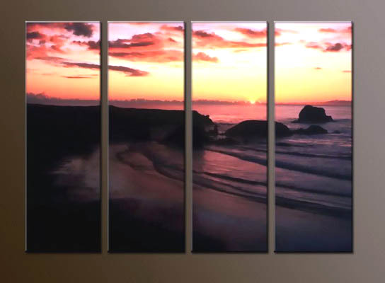 Modern sunrise oil painting