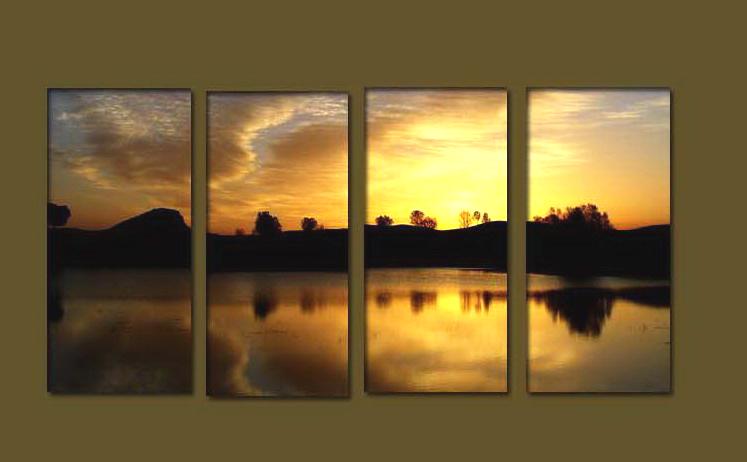 Modern sunrise oil painting