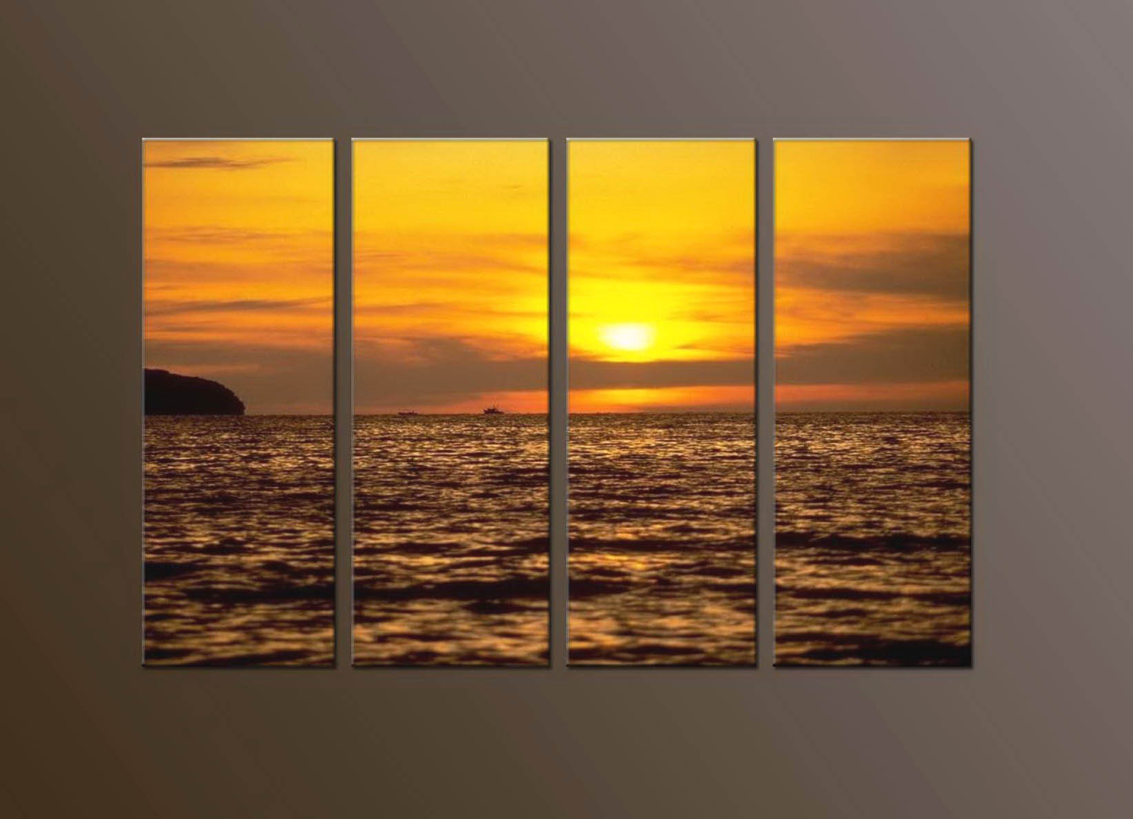 Modern Oil Paintings on canvas sunglow painting -set10117