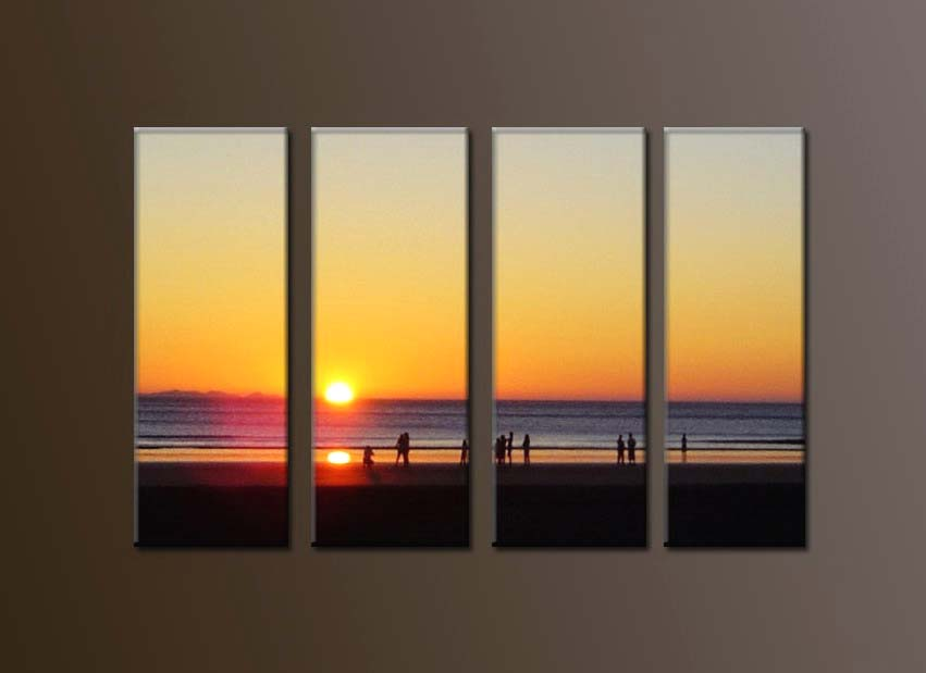 Modern Oil Paintings on canvas sunglow painting -set10119