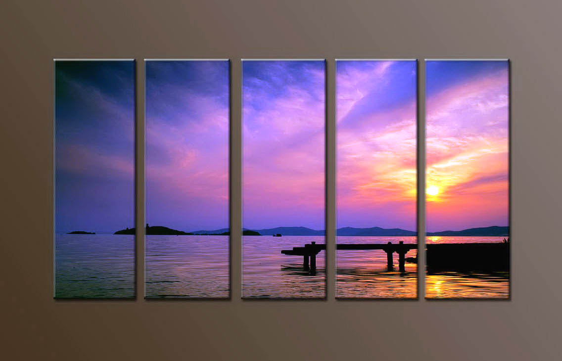 Modern Oil Paintings on canvas seascape painting -set10139