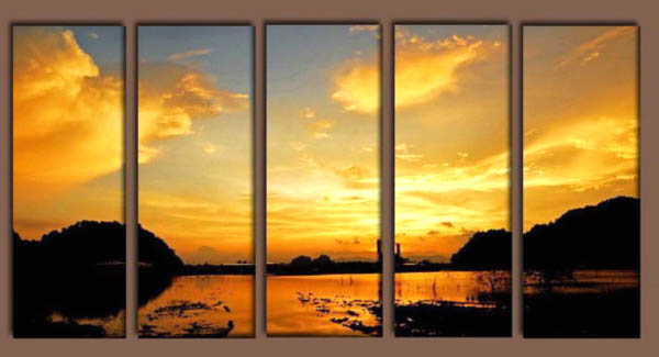 Modern Oil Paintings on canvas seascape painting -set10140