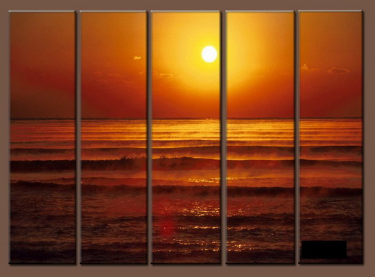 Modern Oil Paintings on canvas seascape painting -set10141