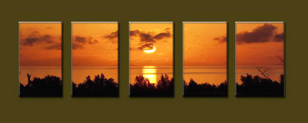 Modern Oil Paintings on canvas seascape painting -set10142