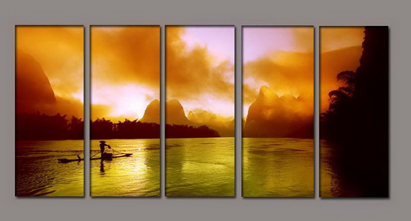 Modern Oil Paintings on canvas seascape painting -set10149