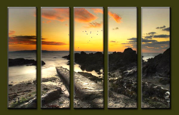 Modern Oil Paintings on canvas seascape painting -set10171