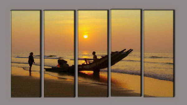 Modern Oil Paintings on canvas seascape painting -set10185