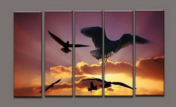 Modern Oil Paintings on canvas seascape painting -set10186