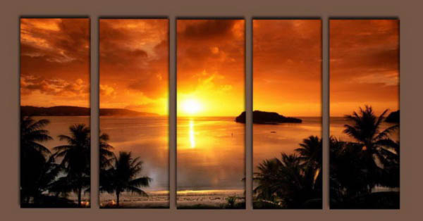 Modern Oil Paintings on canvas seascape painting -set10202