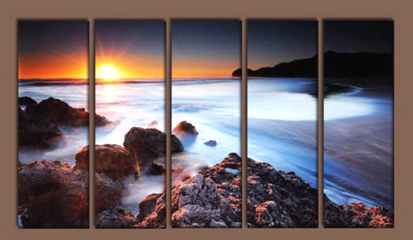 Modern Oil Paintings on canvas seascape painting -set10206