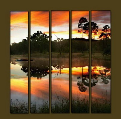 Modern Oil Paintings on canvas seascape painting -set10207