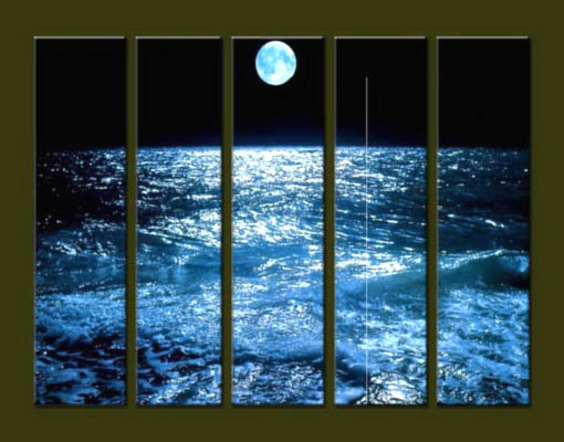 Modern Oil Paintings on canvas seascape painting -set10238