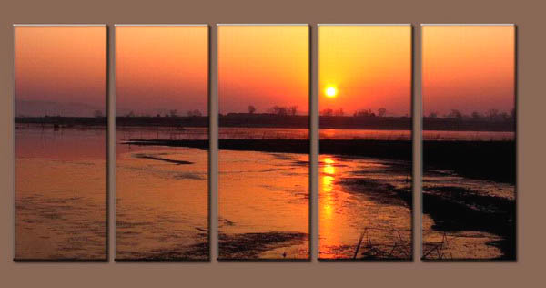 Modern Oil Paintings on canvas seascape painting -set10241