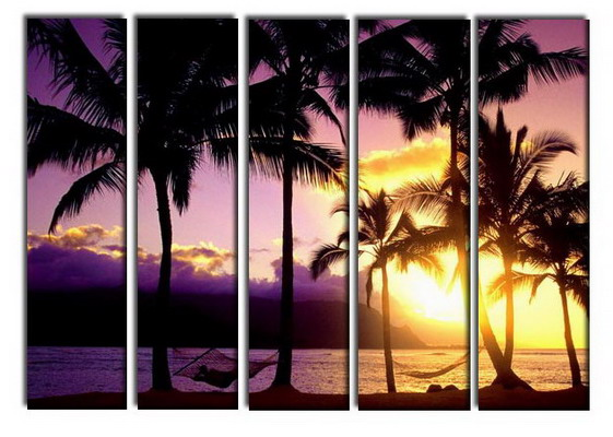 Modern Oil Paintings on canvas seascape painting -set10254