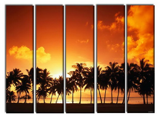 Modern Oil Paintings on canvas seascape painting -set10256