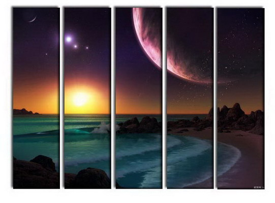 Modern Oil Paintings on canvas seascape painting -set10260
