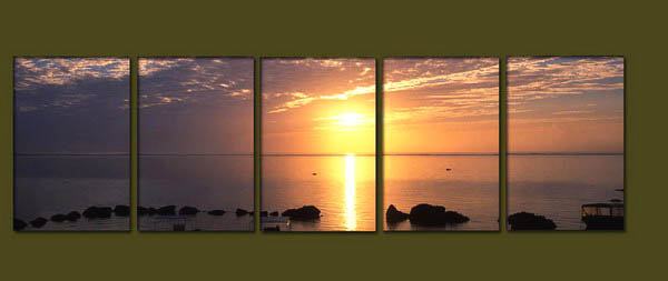 Modern Oil Paintings on canvas seascape painting -set10271