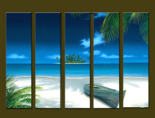 Modern Oil Paintings on canvas seascape painting -set10272