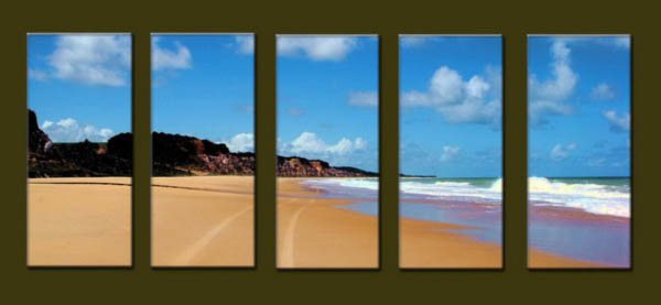 Modern Oil Paintings on canvas seascape painting -set10273