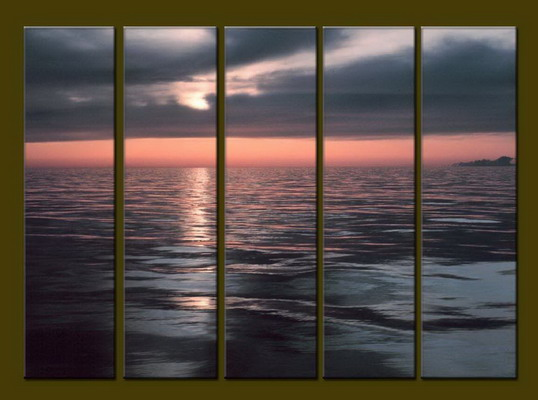 Modern Oil Paintings on canvas seascape painting -set10282