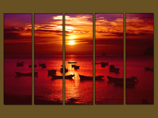 Modern Oil Paintings on canvas seascape painting -set10288