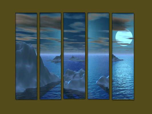 Modern Oil Paintings on canvas seascape painting -set10292