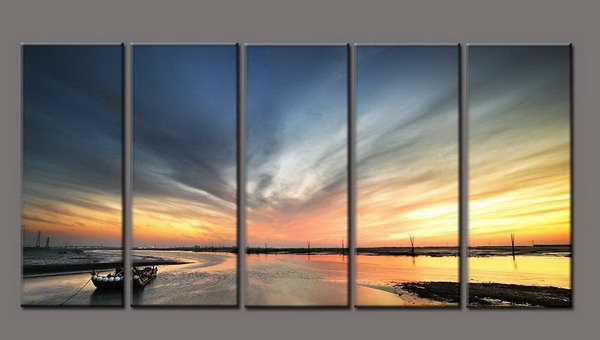 Modern Oil Paintings on canvas seascape painting -set10295