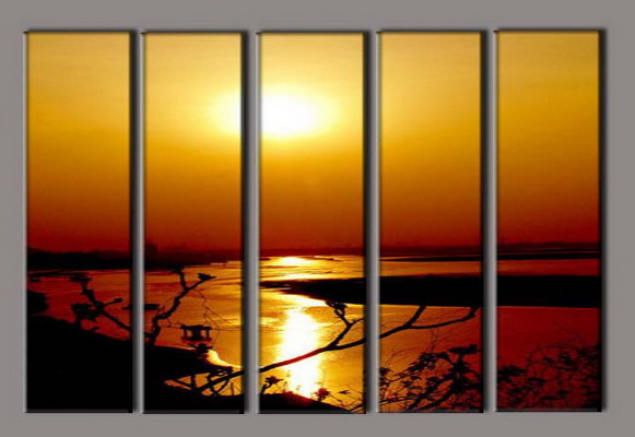 Modern Oil Paintings on canvas seascape painting -set10296