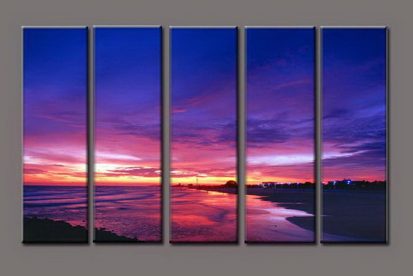 Modern Oil Paintings on canvas seascape painting -set10297