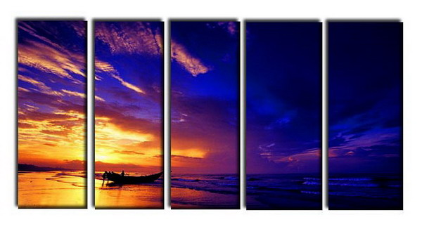 Modern Oil Paintings on canvas seascape painting -set10313