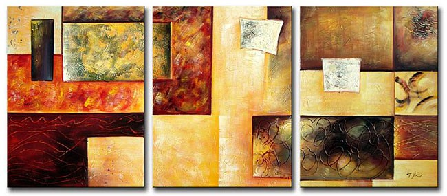 Modern Oil Paintings on canvas abstract painting -set12016