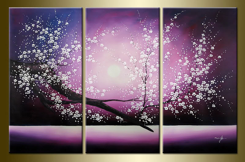 Modern Oil Paintings on canvas abstract painting -set12022