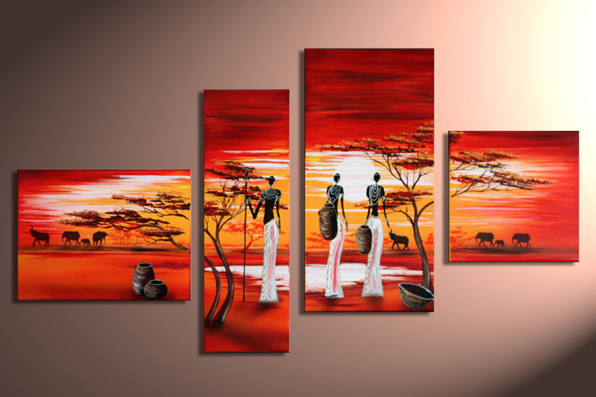 Modern Oil Paintings on canvas abstract painting -set12028
