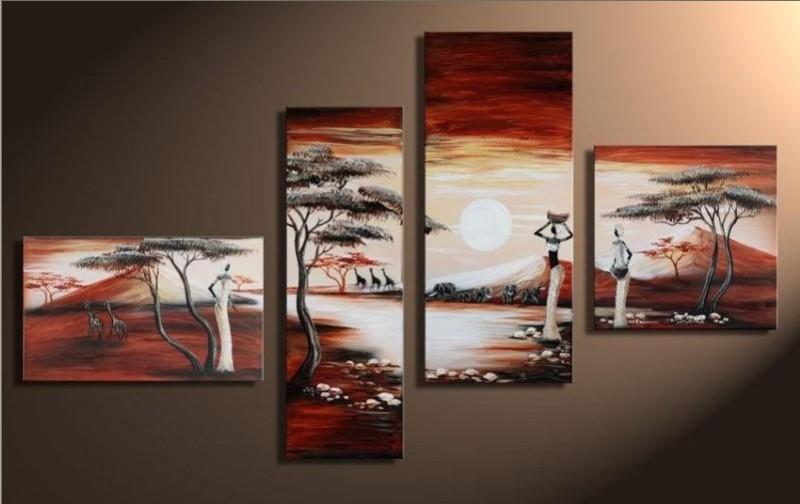 Modern Oil Paintings on canvas abstract painting -set12047
