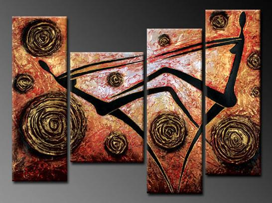 Modern Oil Paintings on canvas abstract painting -set12060
