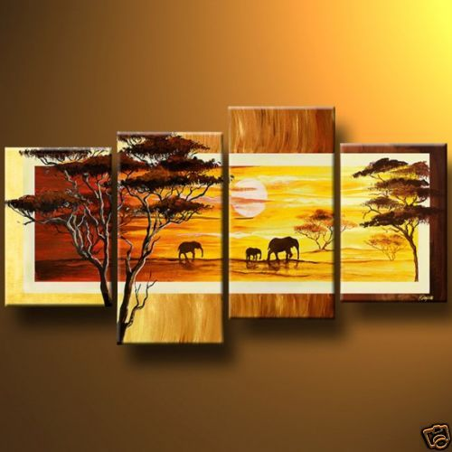 Modern Oil Paintings on canvas abstract painting -set12062