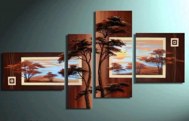Modern Oil Paintings on canvas abstract painting -set12065