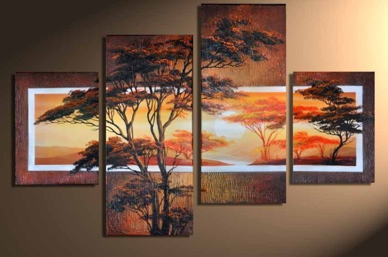 Modern Oil Paintings on canvas abstract painting -set12067
