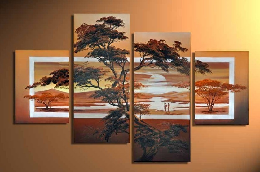 Modern Oil Paintings on canvas abstract painting -set12076