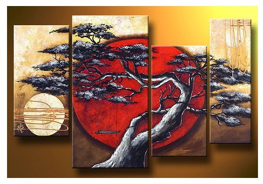 Modern Oil Paintings on canvas abstract painting -set12078
