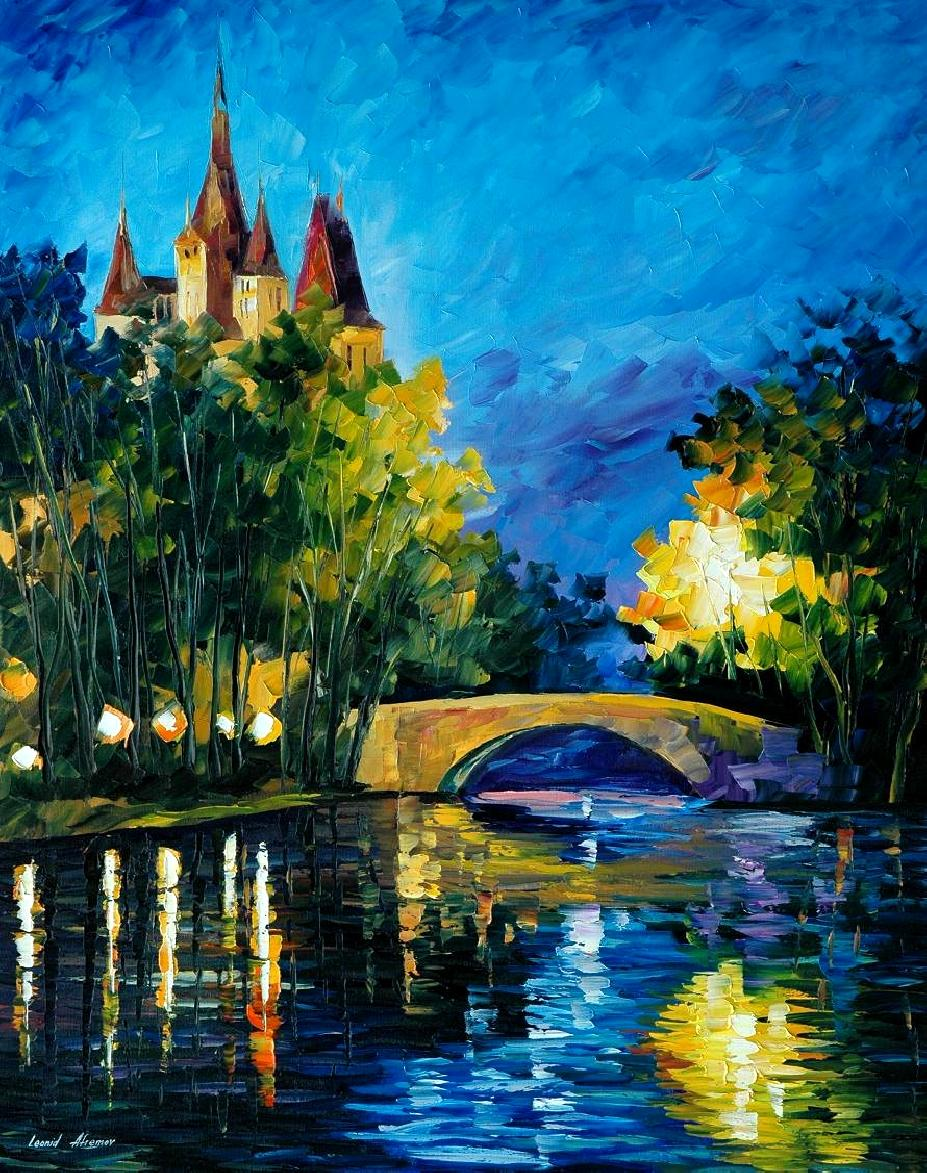 Modern impressionism palette knife oil painting City009