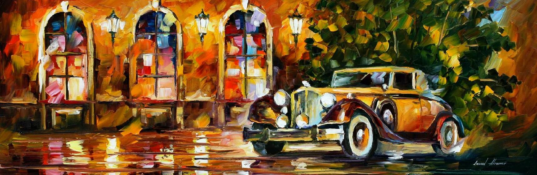 Modern impressionism palette knife oil painting City057