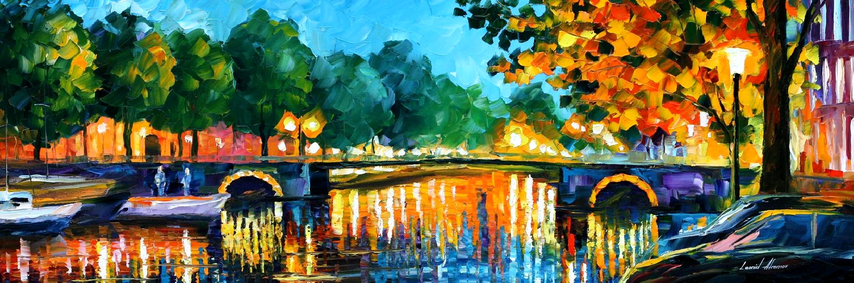 Modern impressionism palette knife oil painting City073