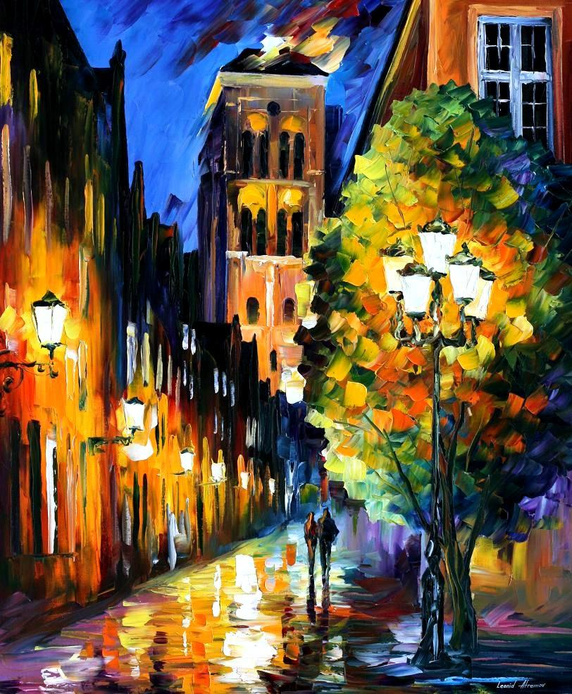 Modern impressionism palette knife oil painting City075