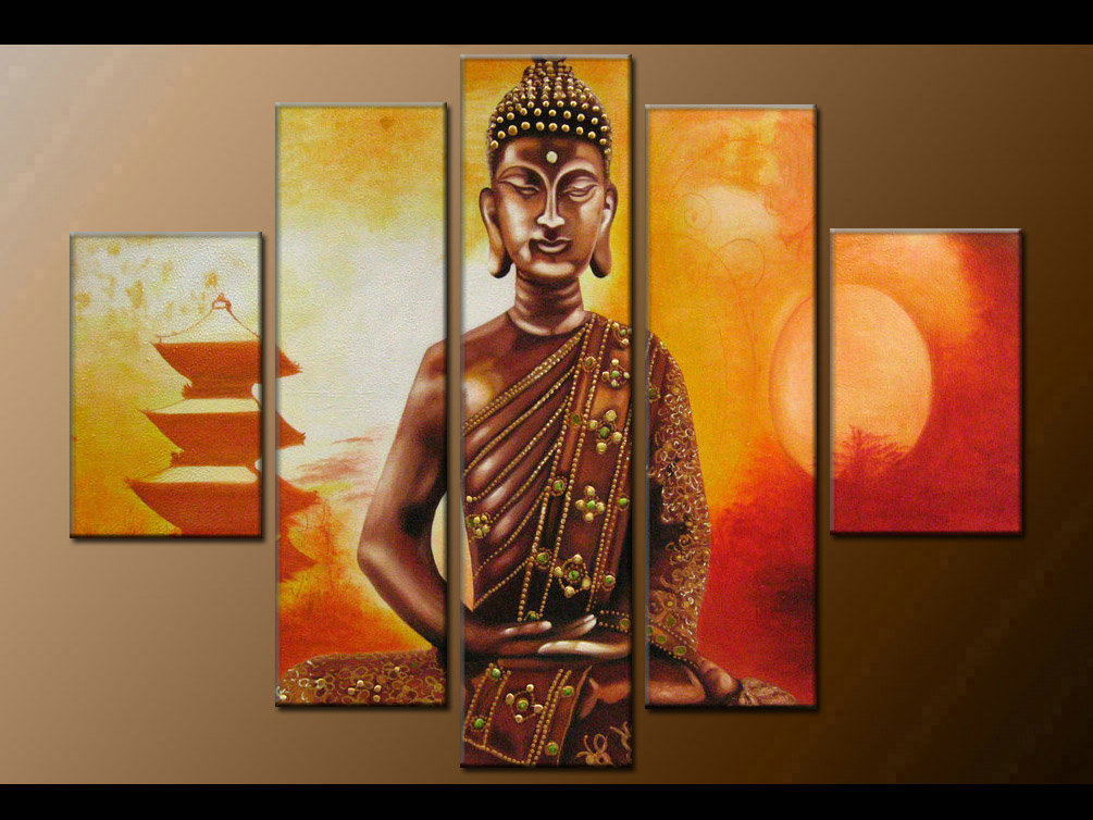 Contemporary zen art Buddha painting Buddha002