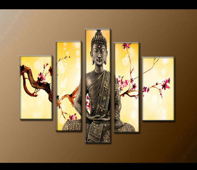 Contemporary zen art Buddha painting Buddha005