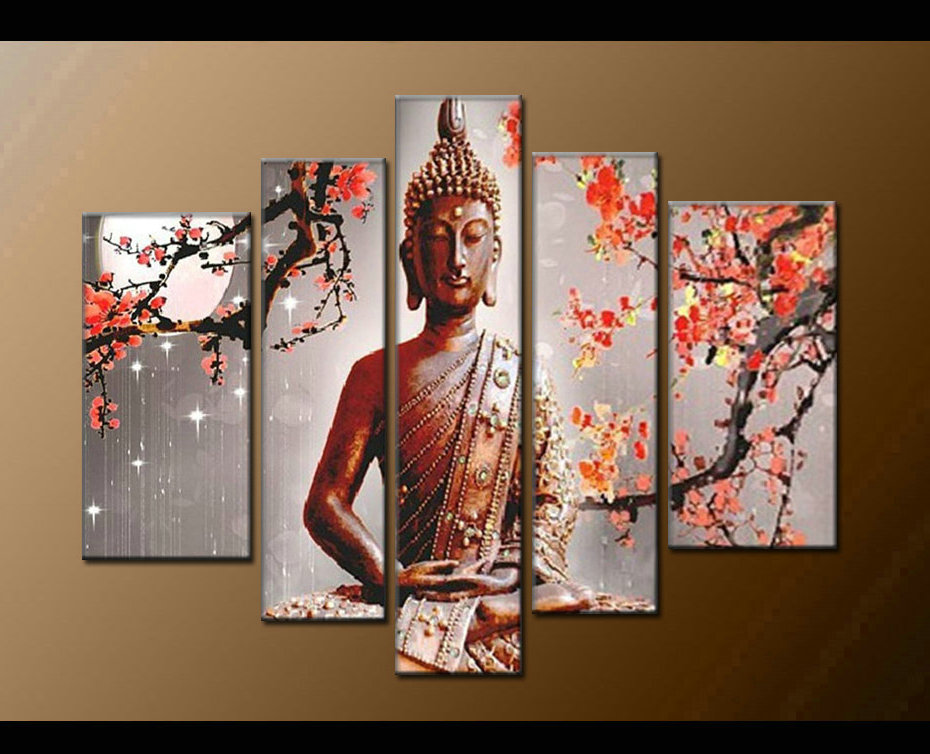 Contemporary zen art Buddha painting Buddha006